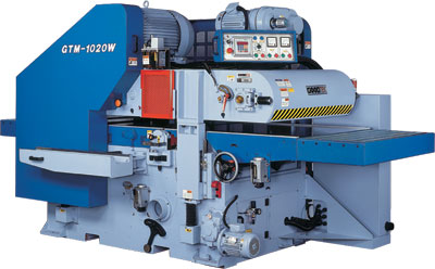 Two sided planer - In order to ensure the smooth process, series GTM-1020W is designed to provide the feed- in from tip plug and multi-spindle power transports feed-out.